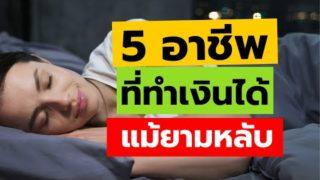5 อาชีพเสริมพารวย ทำเงินได้แม้ยามหลับ  ทำงานที่บ้านได้